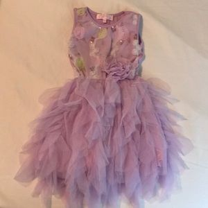 Purple party Dress with Tulle skirt